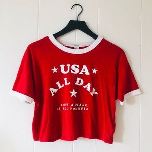 FOREVER 21 USA GRAPHIC TEE